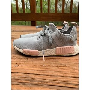 adidas Shoes - Adidas NMD R1 Light Onix / Light Grey and Pink